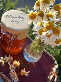Mocný Heřmánkový sirup / Camomile syrup Table Decorations, Home Decor, Syrup, Homemade Home Decor, Interior Design, Home Interiors, Decoration Home, Home Decoration, Center Pieces