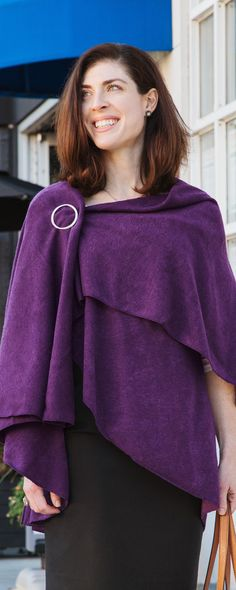 Wear Demdaco's cozy layering piece, discovered by The Grommet, as a scarf, poncho, shawl, wrap, or cape— depending on your mood, outfit, or the temperature.