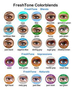 coloured contact lenses colored colour 3 tone non prescription cosmetic use on etsy