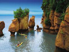 New Brunswick, Canada - Hopewell Rocks at High Tide