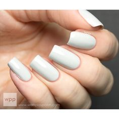Down Comforter - Grey, White Holographic Nail Polish ($10) ❤ liked on Polyvore featuring beauty products, nail care, nails, makeup, unhas, beauty and nail polish