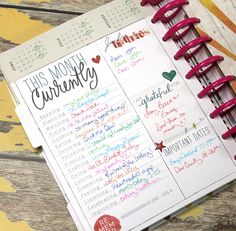 July CURRENTLY filled out in The Happy Planner™ of mambi Design Team member Candi Billman   me & my Big ideas