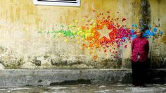 Colorful Origami Graffiti on the Streets of Vietnam and Hong Kong » Man Made DIY | Crafts for Men « Keywords: street-art, art, graffiti, paper