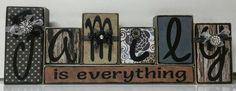 Family is Everything wood blocks by KimsKreationsSA on Etsy Stacking Wood, Stacking Blocks, Word Block, Block Art, Diy Signs, Wood Signs, Wood Projects, Woodworking Projects, Wood Crafts