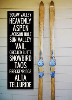 WESTERN US SKI Resorts 12 x 36 TransitStyle by AlpineGraphics, $60.00