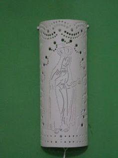 Ju Luminárias - Luminárias em PVC: Luminária em PVC - Arandela - Dica do nosso amigo Dinarte Costa