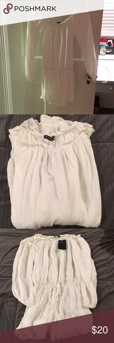 Off-shoulder Romper **NEW** with tags! off the shoulder white Romper one size fits all Brandy Melville Other