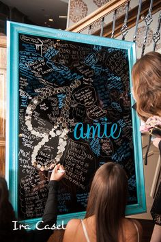 Jamie's Bat Mitzvah 12.20.14 Sign In Board