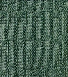Vertical Basket Weave Knitting Stitch. More Great Patterns Like This