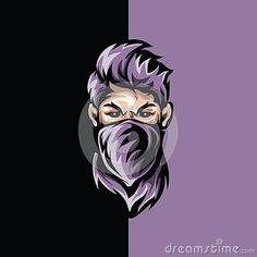 Handsome thief vector image on VectorStock Team Logo Design, Logo Desing, Logo D'art, Typography Logo, Logo Foto, Arte Assassins Creed, Gaming Logo, Ninja Logo, Mobile Logo