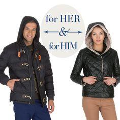 Uyumlu giyinen çiftler için soğuk günlerin sıcak ve trend seçeneği: Puf montlar!  #love #fashion #style #limoncompany