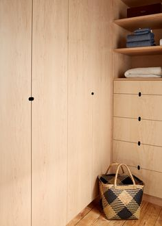 Dressing room by architect Jess Thomas; millwork by James Harmon. Kate Sears photo.