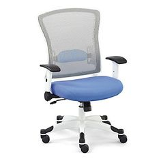 Mesh Computer Chair with Flip Arms and Memory Foam Seat