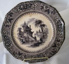 mulberry transferware plate 'Corea' pattern