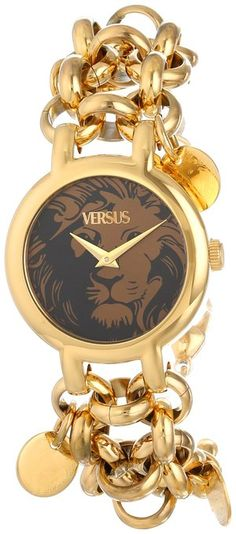 Versus by Versace Women's Agadir Analog Display Japanese Quartz Gold Watch Handbag Accessories, Jewelry Accessories, Watch Accessories, Gold Watches Women, Fashion Moda, Beautiful Watches, Glamour, Turquoise, Jewelry Watches