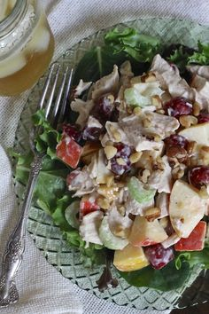 I will be the first one to admit that I have not always been a Waldorf salad fan. The Waldorf salads of the 70's and 80's usually contained WAY too much celery (not my fav), nuts (which I generally avoided unless it was in a dessert), and were often completely tasteless. A...