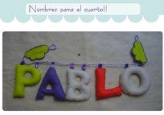 Nombres en tela. Cuelgapuertas. / Cosetes de Marta - Artesanio