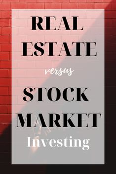 If you have some extra cash, where should you invest it? In real estate or in the stock market? Find out! Value Investing, Investing Money, Real Estate Investing, Saving Money, Best Way To Invest, Stock Market Investing, Investment Portfolio, Finance Blog, Best Investments