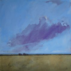 Pintura de paisaje abstracto original río por PaulBaileyArt