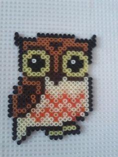 Owl hama beads by a-mah on deviantart