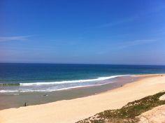 Praia da Fisica - Santa Cruz (linha do mar atipicamente muito avançada)