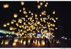 Sky/Wish Lanterns. Guest can release a lantern with a wish for the bride and groom. Great way to end the night.