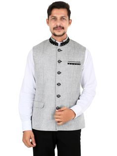 I Party Grey Plain Jute Men Waistcoat  To View more collection at www.g3fashion.com  For price or detail do whatsApp +91-9913433322.   couture#gq #upclose #mensfashion #menstyle #menswear #menwhodress #menwithclass #instafashion #highfashion #dandys #dandystyle #dapper # #streetstyle #streetwear #stylegram #styleguide #gentlemanstyle #personalstyle #breakingbad  #ootd #waistcoat l #satorialist #shoegame #onfleek.