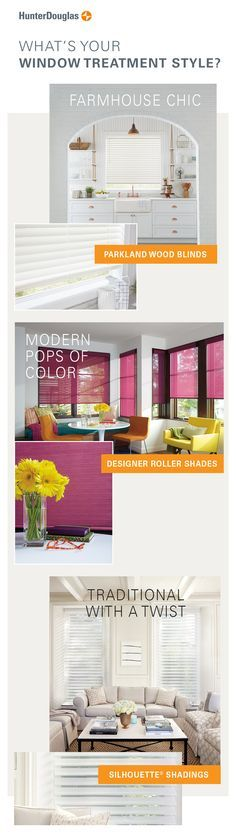 Explore our world of beautiful, innovative window coverings to find your window treatment style.