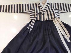 이노주단 한복, KOREAN TRADITIONAL DRESS, STRIPE DRESS
