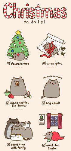Pusheen's Christmas To Do List