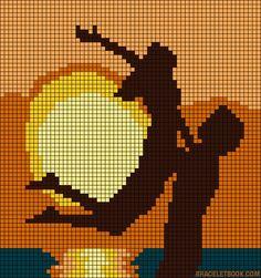 Alpha friendship bracelet pattern added by sunset sea lovers couple love romance romantic scene. Wedding Cross Stitch Patterns, Funny Cross Stitch Patterns, Cross Stitch Heart, Cross Stitch Designs, Crochet Wall Art, Tapestry Crochet, Pixel Art Coeur, Cross Stitching, Cross Stitch Embroidery
