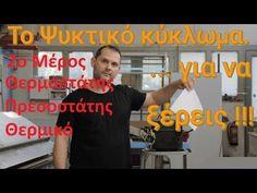 Ψυκτικό Κύκλωμα. Μηχανισμός κοινός σε ψυγείο, κλιματιστικό, ψύκτη, καταψύκτη, παγομηχανή κ.α. Βασικές αρχές λειτουργίας, χρήσης & συντήρησης. - YouTube 1, Youtube, Mens Tops, T Shirt, Supreme T Shirt, Tee Shirt, Youtubers, Tee, Youtube Movies