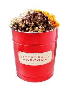 Chocolate caramel popcorn from the Pittsburgh Popcorn Company is too addictive!