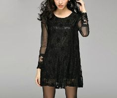 Fashion Women Sexy Black Lace Dress Loose Fit by IdealDesignShop, $52.00