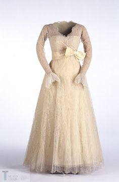 7fff6c651197 Chantilly lace dress in light yellow colour on an organdie transparent with  a very low strapless