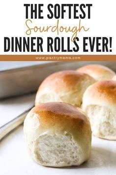 Sourdough Dinner Rolls, Dinner Rolls Recipe, Dinner Recipes, White Bread Rolls Recipe, Recipe From Scratch, Recipe For Mom, Roll Recipe, Sourdough Recipes, Bread Recipes