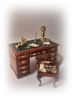 victorian office furniture Victorian Dollhouse, Victorian Decor, Dollhouse Interiors, Steampunk House, Garden Office, Dollhouses, Office Ideas, Office Furniture, Minis