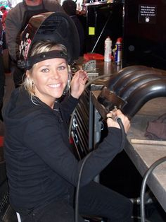 """Leading Ladies: This Month We Feature The Automotive """"It Girl"""" - Jessi Combs - Rod Authority Jessi Combs, Welding Women, Female Race Car Driver, Falken Tires, Welding Gear, Top Fuel Dragster, Valley Girls, Trucks And Girls, Nascar Racing"""