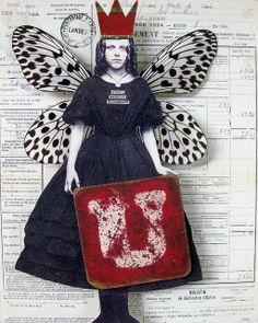 uncommon   Flickr: Intercambio de fotos Mixed Media Journal, Mixed Media Art, Paper Collage Art, Paper Art, Paper Dolls, Art Dolls, Collages, Matchbox Art, Bulletins
