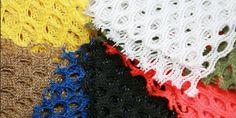 "28 Multi-color Mesh Fabric Squares  5"" X 5"" Squares 7 Colors (4 of each)"