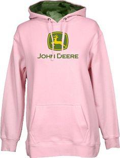 John Deere Logo Hooded Sweatshirt Pink,