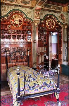 The Marquess of Bute's Bedroom Cardiff Castle  Designed by William Burges.