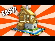 Minecraft: Amazing Starter/Survival House Tutorial - How to Build an Easy House/Base in Minecraft - YouTube