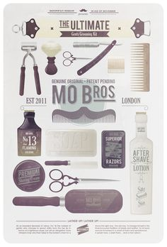 Movember Prostate Cancer Foundation: A fun Movember poster from the creative minds at Shotopop
