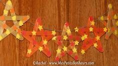 stars on wooden sticks