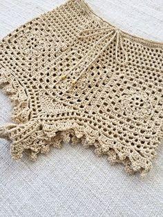 46 Ideas for crochet bikini pattern bottom bathing suits Crochet Crafts, Hand Crochet, Crochet Projects, Crochet Top, Diy Crafts, Crochet Bikini Bottoms, Crochet Bikini Pattern, Crochet Skirts, Crochet Clothes
