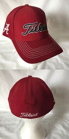 39c53ab5050e7 Golf Visors and Hats 158937  New Alabama Crimson Tide Golf Hat Fitted L Xl  Dark