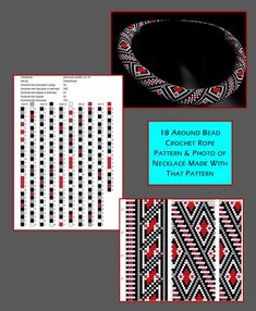 14 around bead crochet rope pattern and a photo showing what the completed necklace looks like. I did not create this pattern or necklace but i find it useful to see the two together when choosing my next project. i thought you might too. Crochet Beaded Bracelets, Beaded Necklace Patterns, Bead Loom Bracelets, Bead Crochet Patterns, Bead Crochet Rope, Beading Patterns, Bead Jewellery, Seed Bead Jewelry, Seed Beads