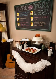 Dessert Table - Friends TV Show Party by Tickled Peach Studio