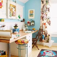 Home office; craft space